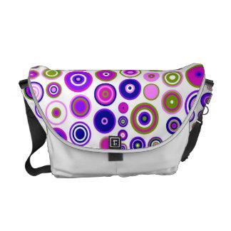 Retro Circles Mosaic Pattern | Rings Seamless 2 Commuter Bags