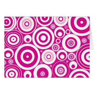 Retro Circles Note Card