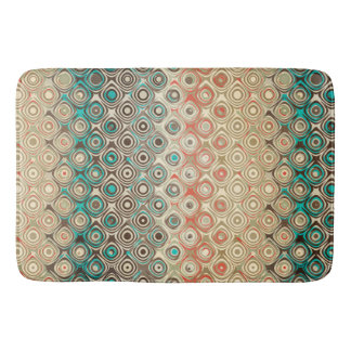 Retro Circles Pattern Bath Mat
