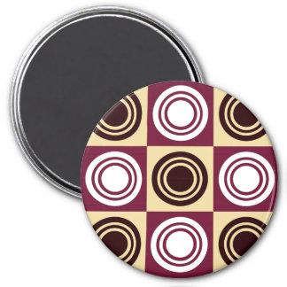 Retro Circles Pattern Round Magnet