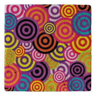 Retro Circles Patterns Trivet