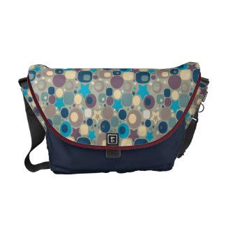Retro Circles Stars Messenger Bags