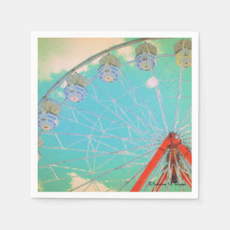 Retro Circus Ferris Wheel ~ Paper Party Napkins Disposable Napkin
