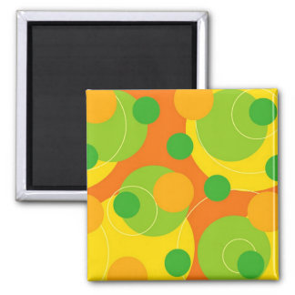 Retro Citrus Dots Funky Groovy Gift Magnet