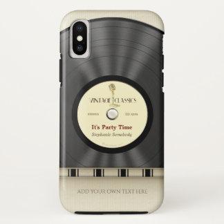Retro Classic Vinyl LP Record iPhone X Case
