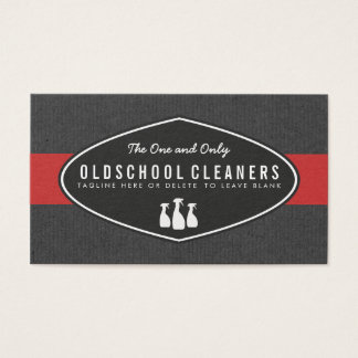 Retro Cleaning Service Gray and Red