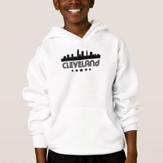 Retro Cleveland Skyline