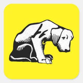 Retro Clip Art Puppy Dog Stickers