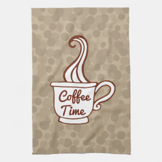Retro Coffee Cup Diner Kitchen Towel Gift