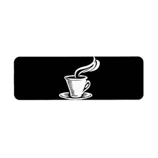 Retro Coffee Cup & Saucer Return Address Label