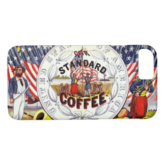 Retro Coffee Label 1862 iPhone 8/7 Case