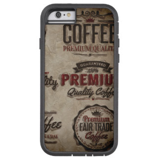 Retro Coffee Labels for Coffee Lovers Tough Xtreme iPhone 6 Case