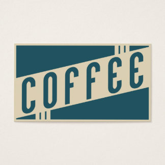 retro coffee loyalty punch card