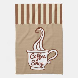 Retro Coffee Shop Kitchen Towel Gift