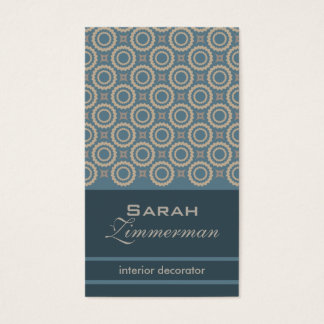 Retro Cogs Teal Business Card
