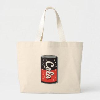 retro cola can design jumbo tote bag