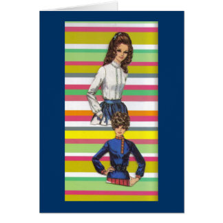 retro collage 2 stationery note card