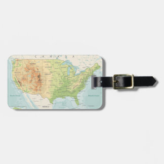 Retro Color Map of the World Luggage Tag