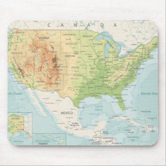 Retro Color Map of the World Mouse Pad