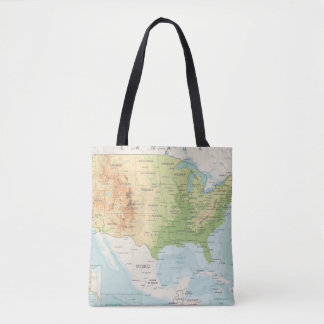 Retro Color Map of the World Tote Bag