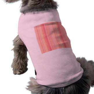 Retro Color Peach Lemon Stripes Sleeveless Dog Shirt