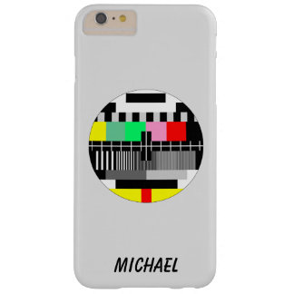 Retro color tv test screen barely there iPhone 6 plus case