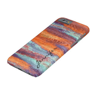Retro Color Wood Grain Texture #3 Barely There iPhone 6 Case