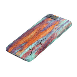 Retro Color Wood Grain Texture Barely There iPhone 6 Case