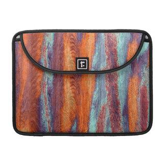 Retro Color Wood Grain Texture Sleeves For MacBooks