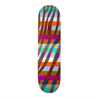 Retro Color Zebra Stripe Pattern 12 Skate Board Deck