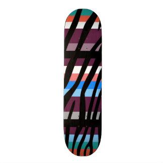 Retro Color Zebra Stripe Pattern Skate Board Deck