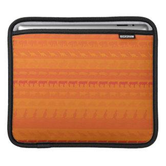 Retro Colorful Animals Modern Stripes Pattern #10 iPad Sleeve