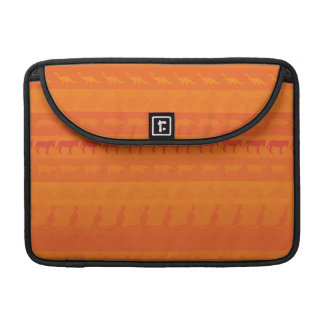 Retro Colorful Animals Modern Stripes Pattern #10 Sleeve For MacBook Pro