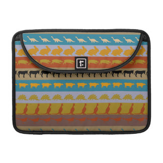 Retro Colorful Animals Modern Stripes Pattern #11 Sleeve For MacBook Pro