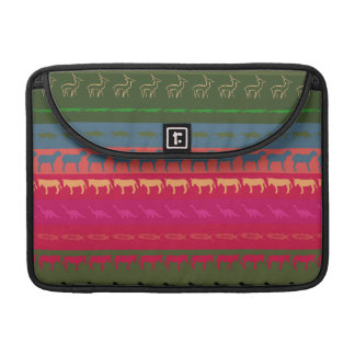 Retro Colorful Animals Modern Stripes Pattern #12 Sleeve For MacBooks