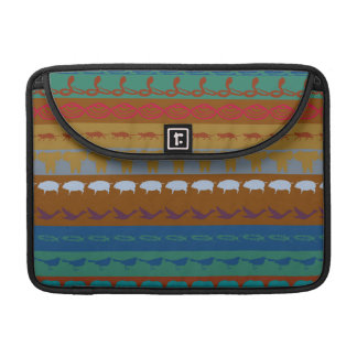Retro Colorful Animals Modern Stripes Pattern #13 Sleeve For MacBooks