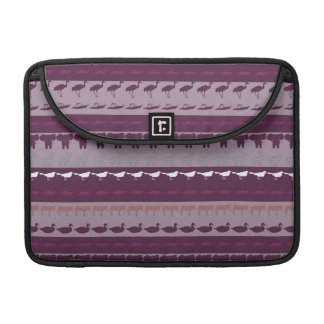 Retro Colorful Animals Modern Stripes Pattern #17 Sleeve For MacBook Pro