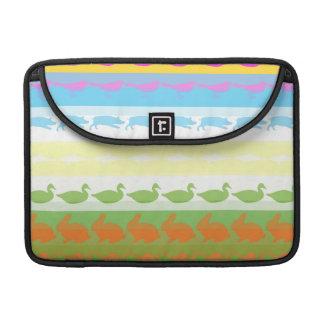 Retro Colorful Animals Modern Stripes Pattern #6 Sleeve For MacBook Pro