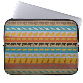 Retro Colorful Animals Pattern #8 Laptop Sleeve