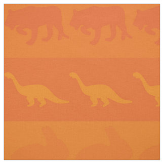 Retro Colorful Animals Pattern #9 Fabric