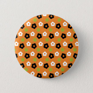 Retro Colorful Autumn Flower Power Pattern 6 Cm Round Badge