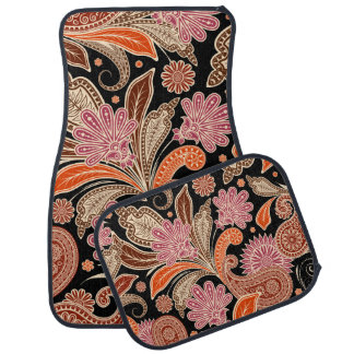 Retro Colorful Beautiful Boho Bohemian Paisley Car Mat