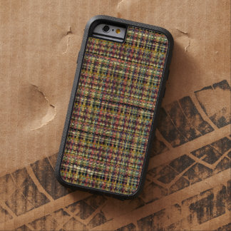 Retro Colorful Brown Vintage Winter Woven Plaid Tough Xtreme iPhone 6 Case