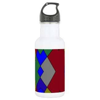 Retro Colorful Diamond Abstract 532 Ml Water Bottle