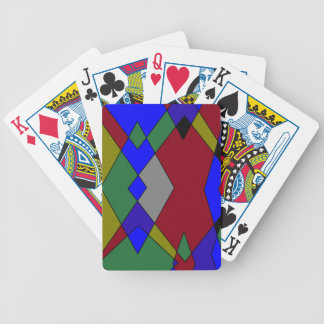 Retro Colorful Diamond Abstract Bicycle Playing Cards