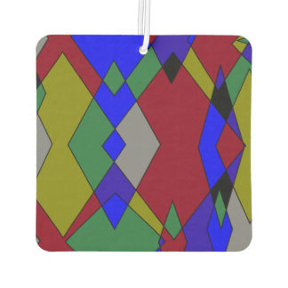 Retro Colorful Diamond Abstract Car Air Freshener