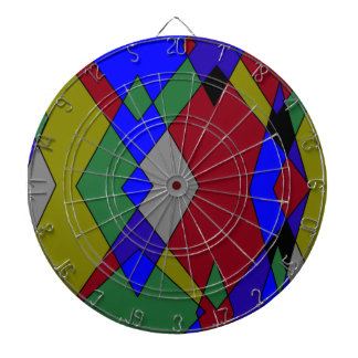 Retro Colorful Diamond Abstract Dartboard