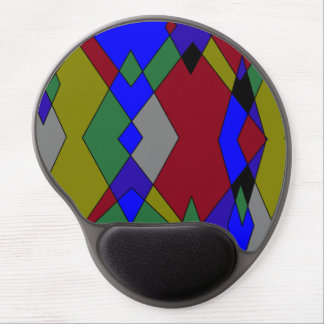 Retro Colorful Diamond Abstract Gel Mouse Pad