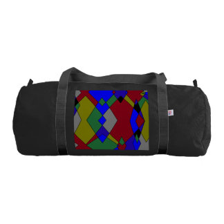 Retro Colorful Diamond Abstract Gym Bag