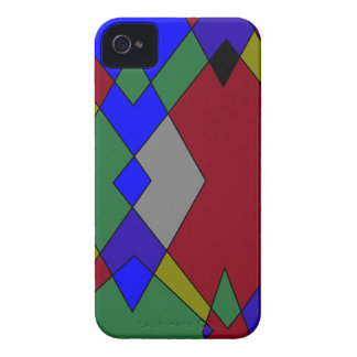 Retro Colorful Diamond Abstract iPhone 4 Case